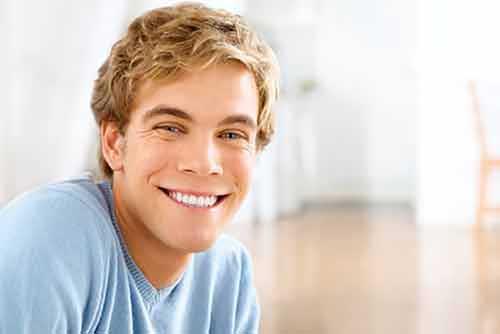 Smiling handsome guy